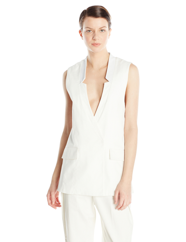 Vincetta White Notch Vest