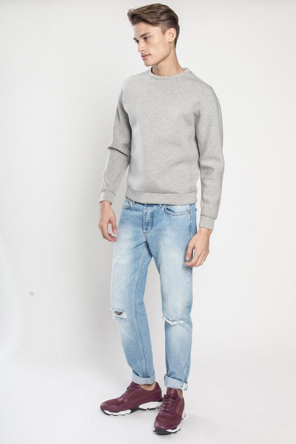 Men's Kenneth Ning Dolman Sleeve Sponge Pullover in Grey