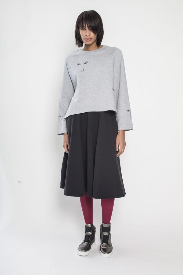 KOWTOW Figurine Sweater in Gray Marle