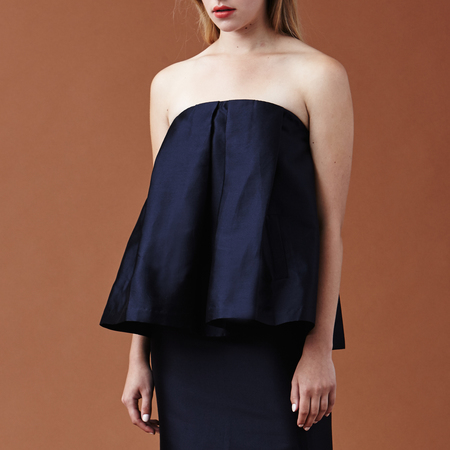 Nikki Chasin Flora Strapless Top - Navy