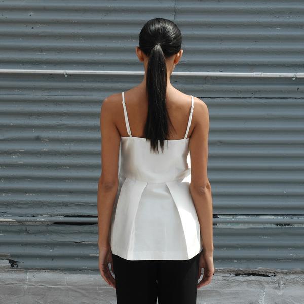 Nikki Chasin Flounce Tank - Ivory