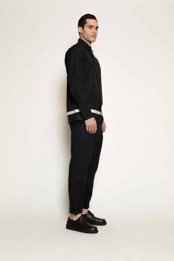 Men's Kenneth Ning Grosgrain Shirt in Black