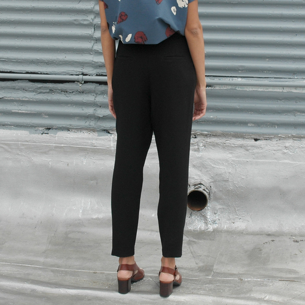 Nikki Chasin Luz Wool Crepe Trousers - Black
