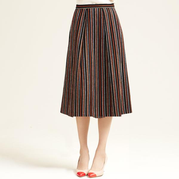 Nikki Chasin Chase Midi Striped Skirt