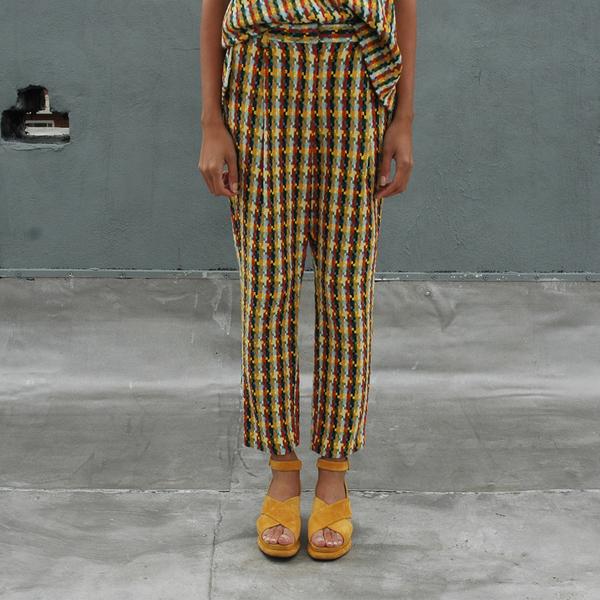 Nikki Chasin Brick Road Tweed Trouser