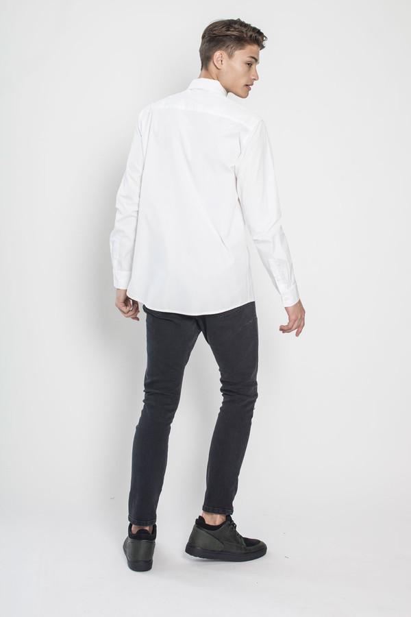 Men's Kenneth Ning Jacquard Applique Shirt in White