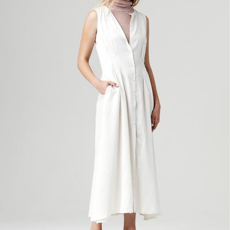 Nikki Chasin Inga Buttonfront Dress - Ivory