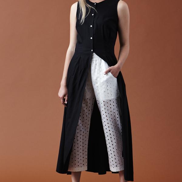 Nikki Chasin Inga Buttonfront Dress - Ash