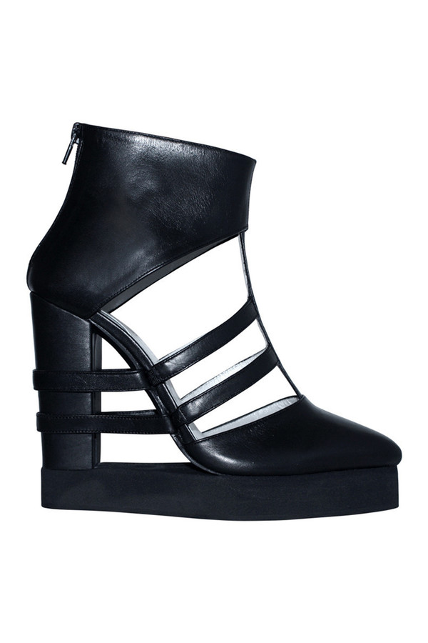 Chromat Striped Open Platform in Black