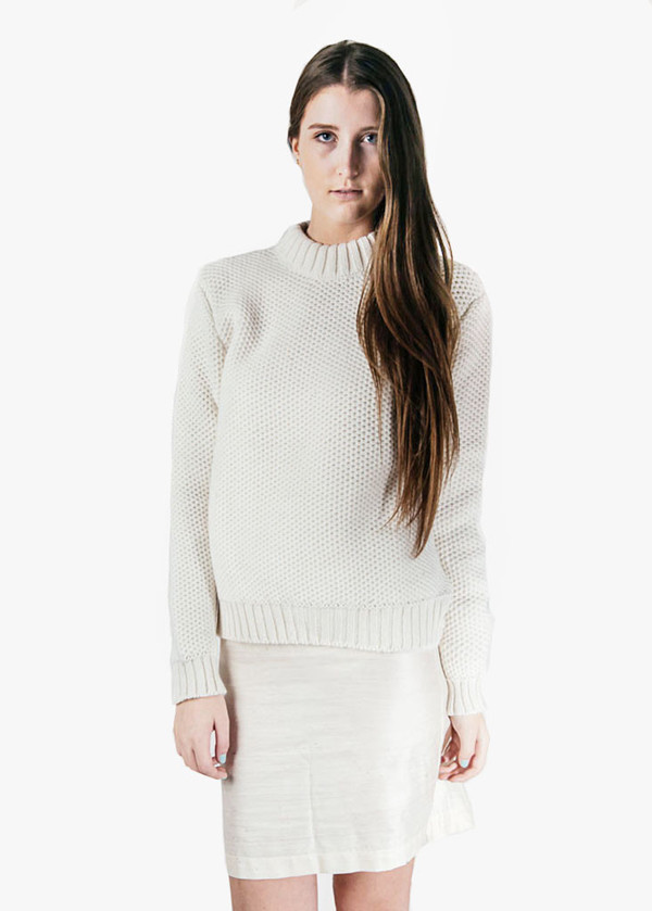 Suzanne Rae Honeycomb Fitted Sweater