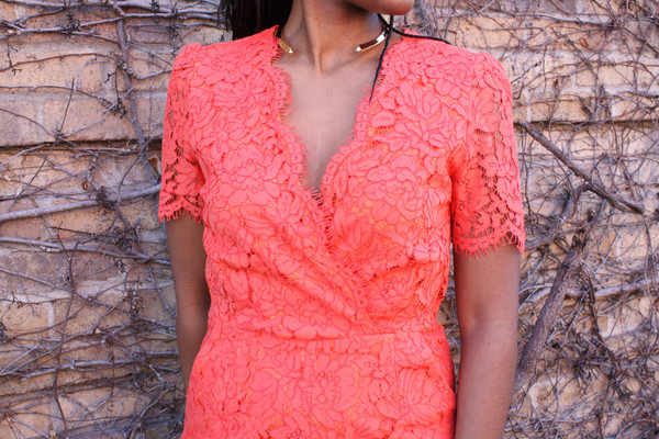 Darling Roisin Lace Jumpsuit Sunset