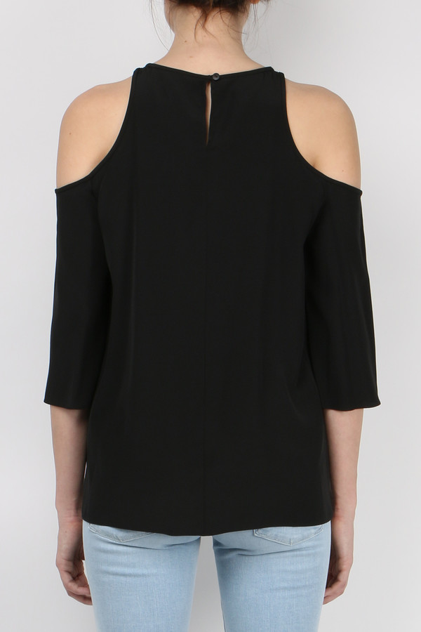 Tibi Silk Cut Out Top