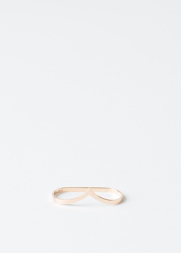 Ginette NY Rose Gold Double Wise Ring