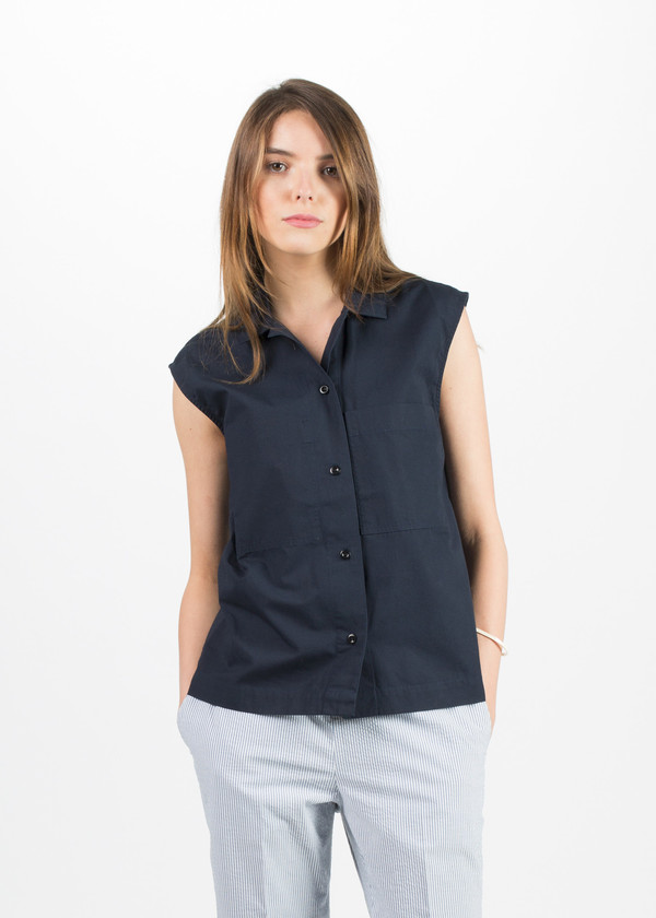 MHL by Margaret Howell Sleeveless Work Shirt