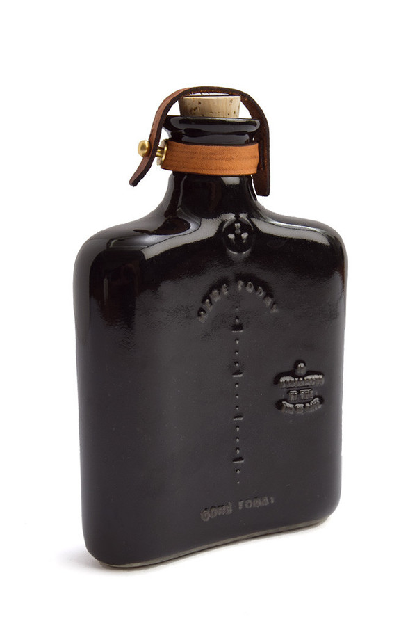 Men's Misc Goods Co Ceramic Flask Black