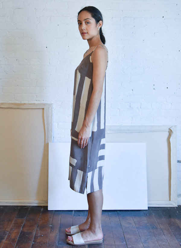 Seek Collective Yin Dress, dove griffa print