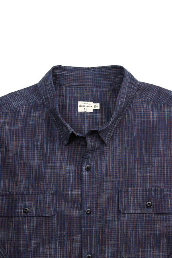 Men's Bridge & Burn Franklin Indigo Brown Grid