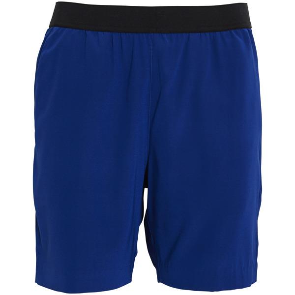 Whyred Blue Elastic Silk Shorts