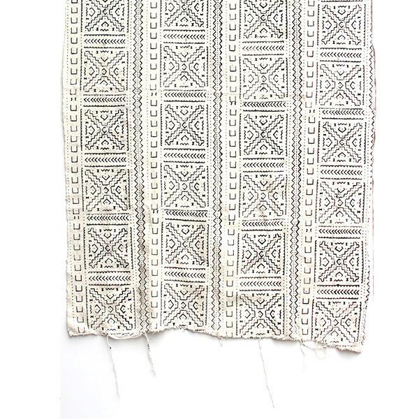Vintage Cream and Black Textile