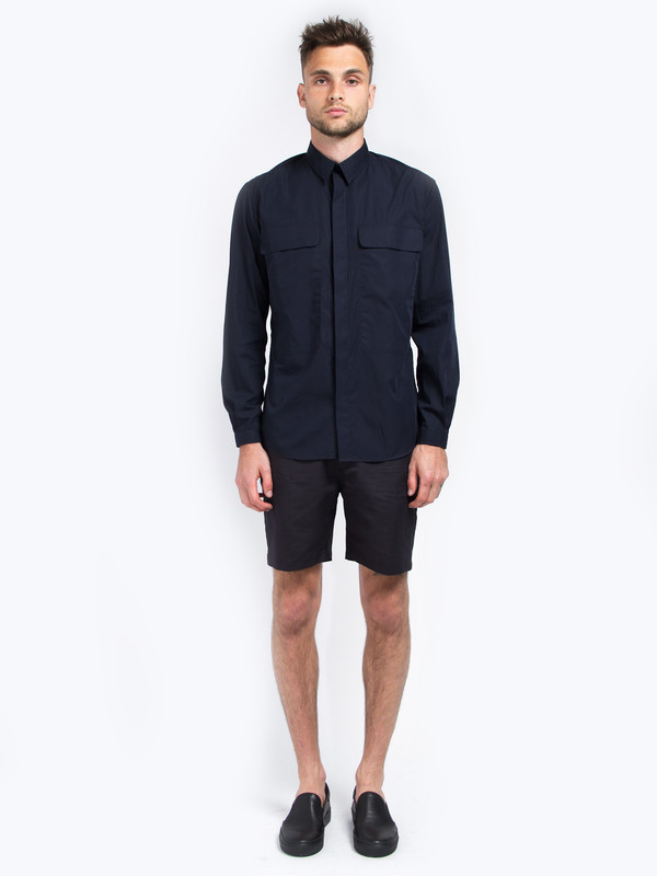 Men's Carlos Campos Uniform Woven Shirt Navy