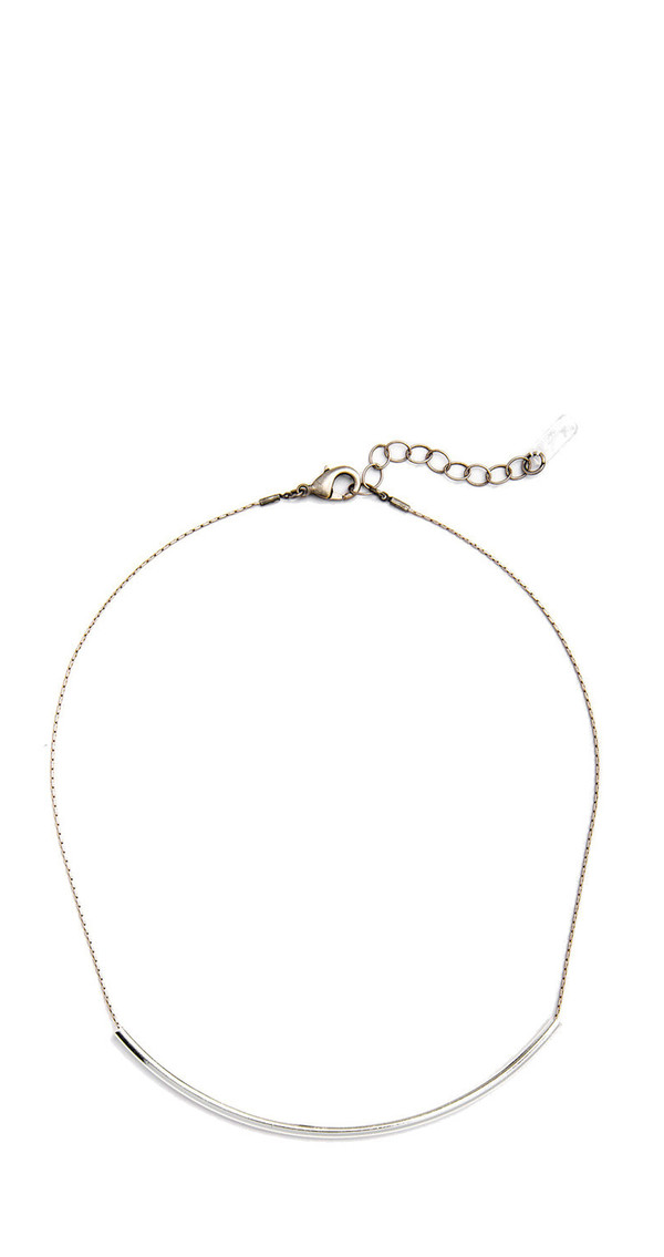 Grayling Big Curve Necklace in Silver