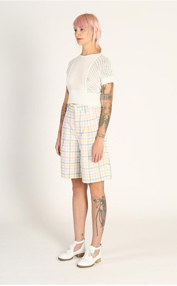 Kurt Lyle Betty Crop Sweater - Almost White