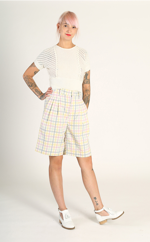 Kurt Lyle Betty Crop Sweater - Almost White