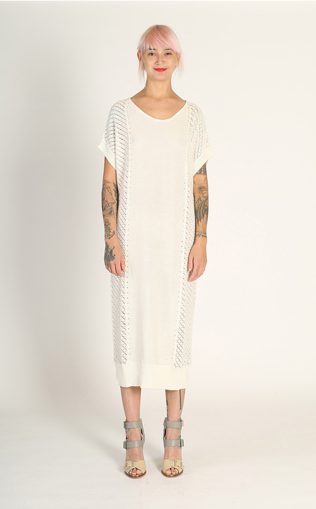Kurt Lyle Gillian Sweater Tunic - Almost White