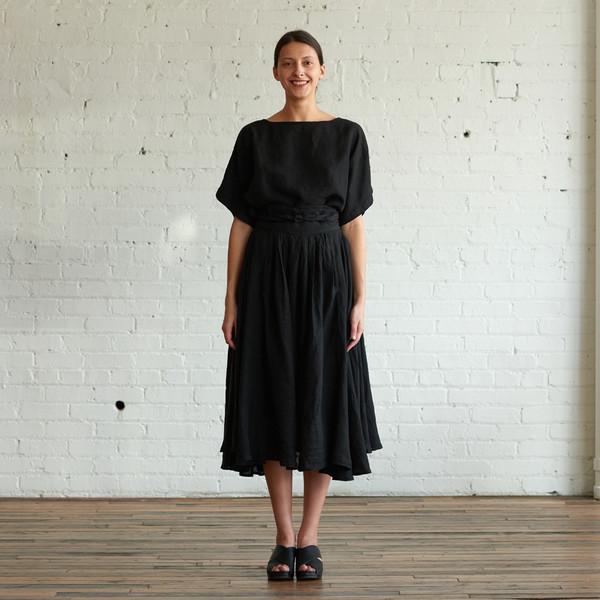Black Crane Wrap Skirt
