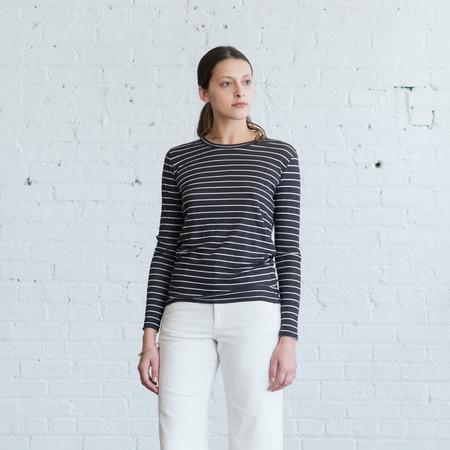 Isabel Marant Etoile Karon Top Black Stripe $200
