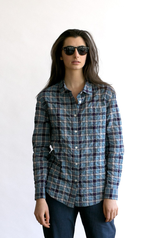 Bridge & Burn Lane Blue Plaid