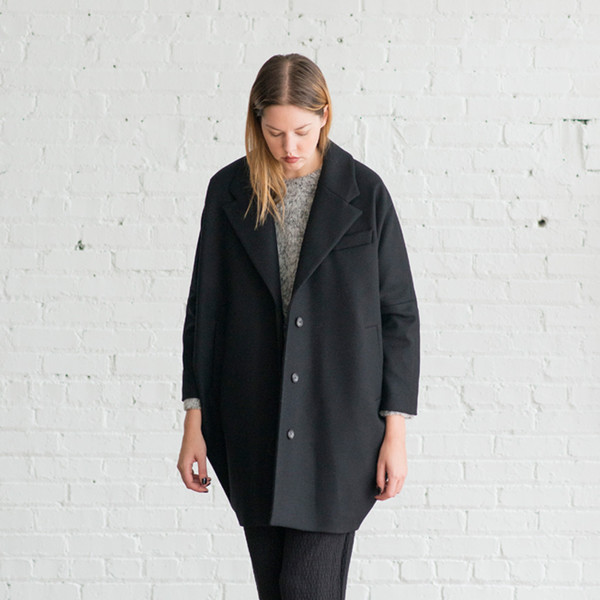 MM6 by Maison Martin Margiela Plain Felt Coat - SOLD OUT