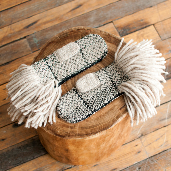 Rachel Comey Fringe Mittens Taupe - SOLD OUT