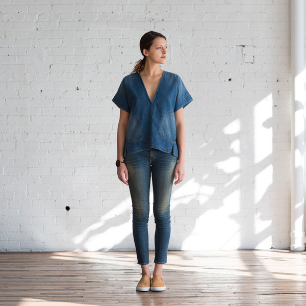 Rachel Comey Memba Top Denim Slub