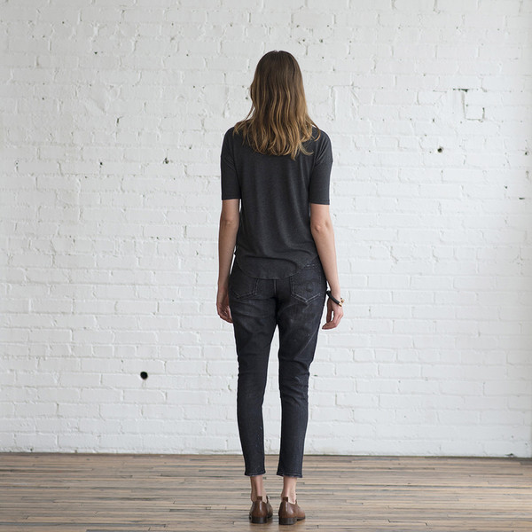 Raquel Allegra Deconstructed Jersey Basic Tee - SOLD OUT