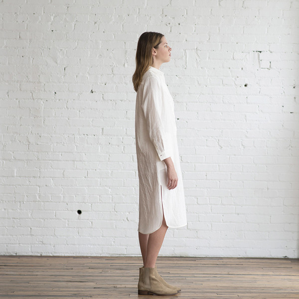 Raquel Allegra Linen Shirt Dress