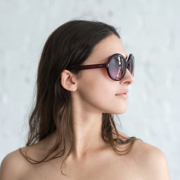 Steven Alan Optical Fay Sunglasses Oxblood