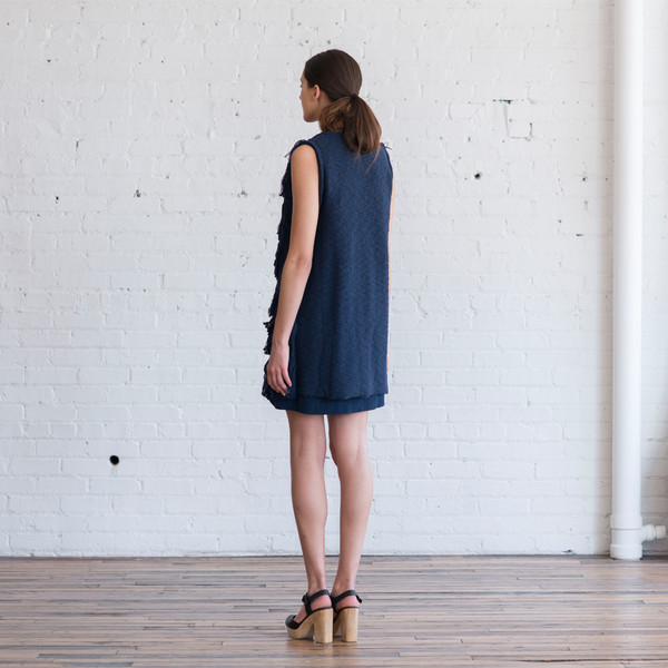 Tess Giberson Knit Fringe Vest
