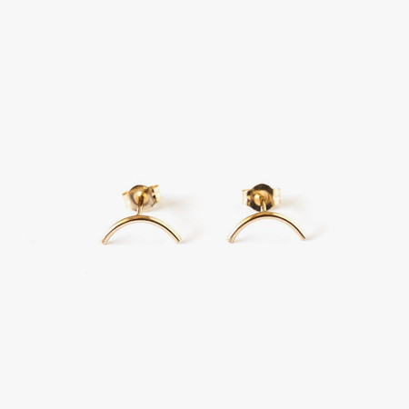Giantlion Mini Arc Earrings in Yellow Gold