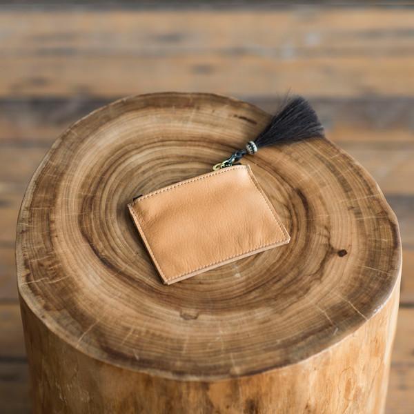 Kempton & Co Tiny Tassel Pouch Light Tan