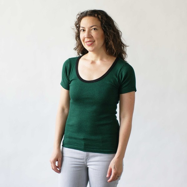 Curator Maisie Tee in Green Stripe