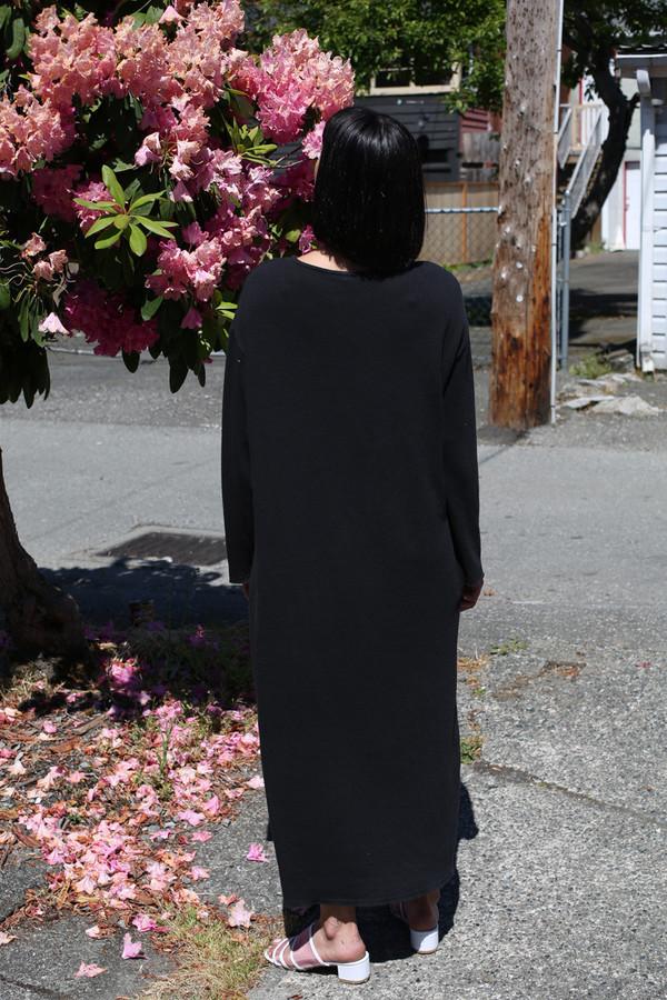 BLACK CRANE JERSEY LONG DRESS