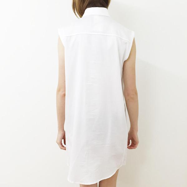 Shelby Steiner Sleeveless Button Down Shirt Dress