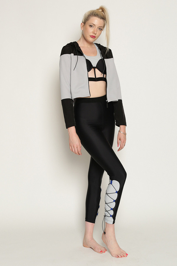 Chromat Grand Prix Jacket in Grey/Black