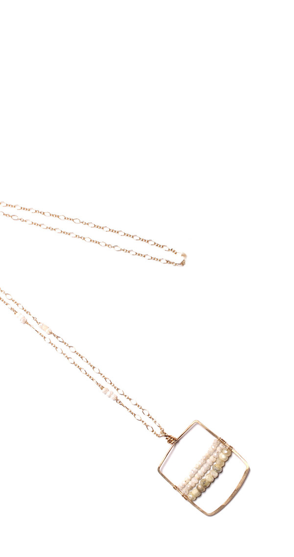 Silverite Square Necklace