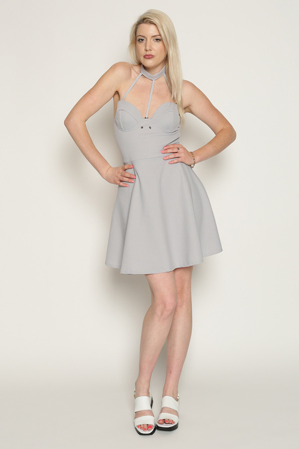 Chromat Optimal Tennis Dress in Grey