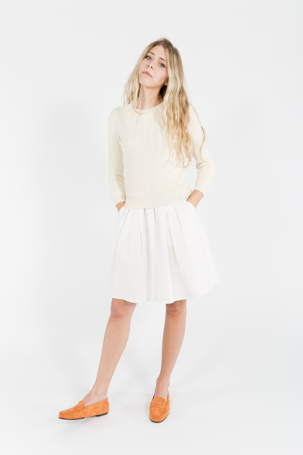 Band of Outsiders Cable Sweater Dress