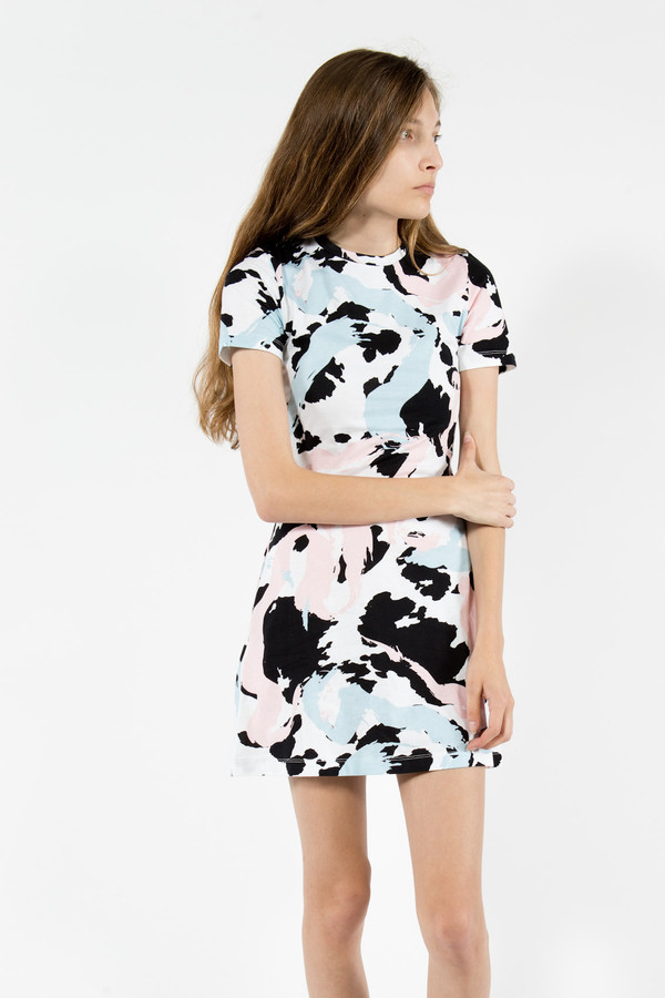 être cécile Cow Stroke A-Line Mini Dress