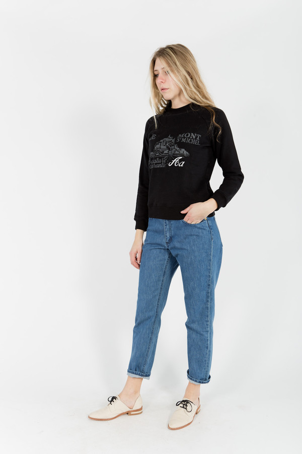 Le Mont St. Michel Embroided Sweatshirt
