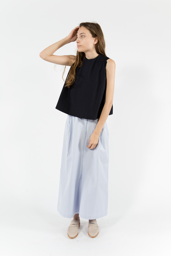 Maison Kitsune Holly Poplin Flared Top
